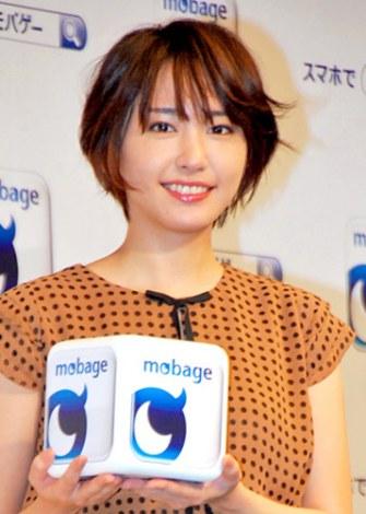 『mobage(モバゲー)』の新CMキャラクターに起用された新垣結衣 (C)ORICON DD inc.
