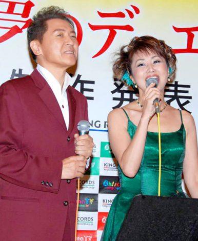 『キング夢のデュエットシリーズ』の制作記者発表会に出席した千葉一夫&柳澤純子 (C)ORICON DD inc.