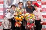 左から坂下千里子、マシュー・グレイ・ギュブラー、シェマー・ムーア、MEGUMI (C)ORICON DD inc.