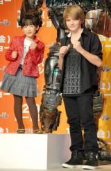 映画『リアル・スティール』の来日記者会見に出席した芦田愛菜&カナダ出身の人気子役のダコタ・ゴヨ (C)ORICON DD inc.