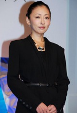 ABC創立60周年記念スペシャルドラマ『境遇』(ABC・テレビ朝日系)の制作発表記者会見に出席した松雪泰子