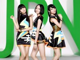 女性グループではSPEED以来12年ぶりに3作連続アルバム首位を獲得したPerfume(左から:かしゆか、のっち、あ〜ちゃん)