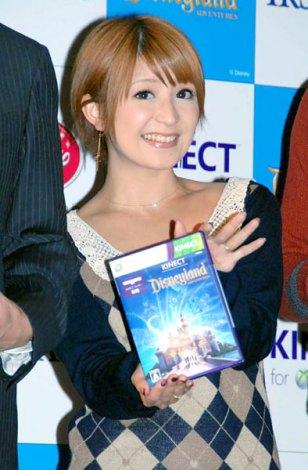 Xbox 360 Kinect専用ソフト『Kinect:ディズニーランド・アドベンチャーズ』の発売記念イベントに出席した矢口真里 (C)ORICON DD inc.