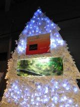デンキウナギの電気を使って発電する新江ノ島水族館(神奈川県藤沢市)のクリスマスツリー
