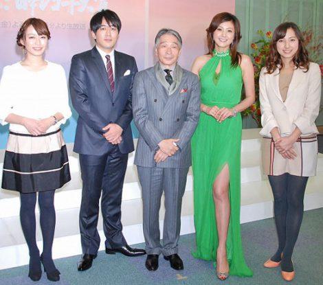 『第53回 輝く!日本レコード大賞』で司会者を務める(左から) (C)ORICON DD inc.