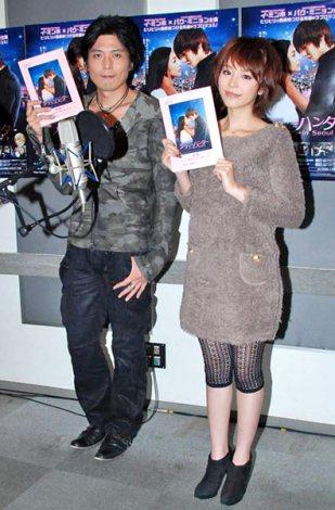 ブルーレイ&DVD『シティハンター in Seoul』のアフレコを行った(左から)高橋広樹、平野綾 (C)ORICON DD inc.