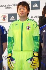2014年のブラジルW杯出場を目指すサッカー日本代表『結束式』に出席した、ゴールキーパーの西川周作選手 (C)ORICON DD inc.