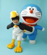 「フクラージョ」(ドードー鳥)の衣装を着て、映画宣伝の応援隊長も務める鈴木福くん (C)藤子プロ・小学館・テレビ朝日・シンエイ・ADK2012