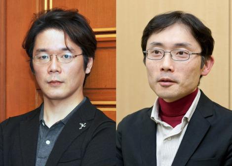 『第146回芥川賞』を受賞した(左から)円城塔氏、田中慎弥氏 (c)講談社
