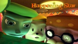 3DCGアニメ映画『Happening Star☆』(松本知博監督)の場面写真(左から)主人公のキッド(声:朴ロ美)、ミル(声:豊崎愛生)、ピット(声:永井一郎)