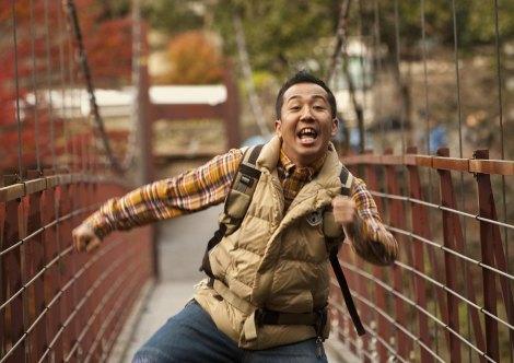 映画『LOVE まさお君が行く!』に出演する芸人の松本秀樹