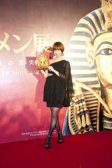 『ツタンカーメン展 黄金の秘宝と少年王の真実』内覧会に出席したAKB48・篠田麻里子