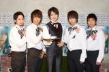 新曲発売記念イベント「1日限りの執事カフェ」を開催した松下優也(写真中央)
