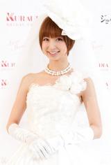 自身初プロデュースのウエディングドレス『Love Mary』を初お披露目したAKB48・篠田麻里子