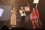 『グータン Premium Night』は大盛況。番組司会でおなじみの江角マキコ(中央)、優香(左)、長谷川潤(右)