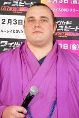 映画『ワイルド・スピード MEGA MAX』のブルーレイ&DVD発売記念イベントに出席した把瑠都凱斗 (C)ORICON DD inc.