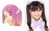 長身で豊かなプロポーションが自慢のお色気キャラ「岸田美森」を演じる佐藤すみれ(AKB48 チームB)