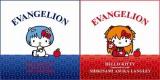 左が綾波レイ × ハローキティ、右が 式波・アスカ・ラングレー × ハローキティ EVANGELION (C)khara (C) 1976, 2012 SANRIO CO.,LTD. TOKYO, JAPAN (L)