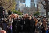 DVD『サンドウィッチマンライブ2011 〜新宿与太郎完結篇〜』の発売記念豆まきイベントの様子 (C)ORICON DD inc.