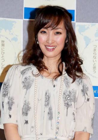 平成24年度の『NHK語学番組』記者会見に出席した坂下千里子 (C)ORICON DD inc.