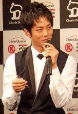 サークルKサンクスの新商品『小悪魔ショコラ』お披露目トークイベントに出席した松坂桃李