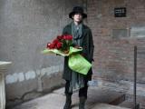 ジュリエットのお墓を訪れた佐藤