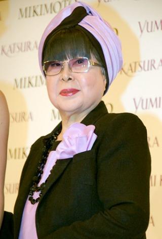 新作ウエディングドレス『YUMI MARIEE Princess of Mikimoto Pearls』発表会に出席した桂由美 (C)ORICON DD inc.