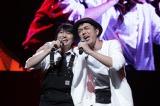 『アニメ紅白歌合戦』の模様(写真左から:下野紘、ヒャダイン)