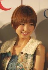 「AKB48新戦略記者発表会」に出席した篠田麻里子 (C)ORICON DD inc.