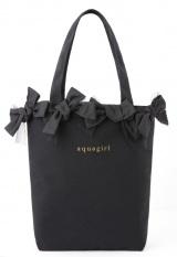 ブランドムック(R)『aquagirl 〜2012 Spring&Summer Collection〜』の特別付録、リボン付トートバッグ(高さ31×幅35×マチ10cm)