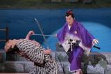 『コロッケぱらだいす ごきげん歌謡笑劇団』4月14日放送回より 見事な殺陣を披露する里見浩太朗(C)NHK