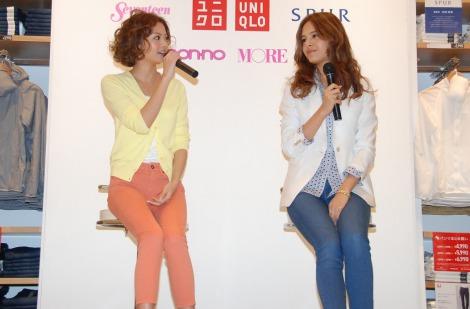 ファッションについてトークを繰り広げる(左から)矢野未希子と大屋夏南 (C)ORICON DD inc.