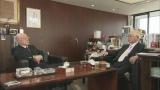 対談の収録は読売新聞グループ本社代表取締役会長・主筆の渡辺恒雄氏の部屋で行われた(C)読売テレビ