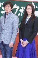 公開制作発表会に出席した(左から)佐藤浩市、松下奈緒 (C)ORICON DD inc.