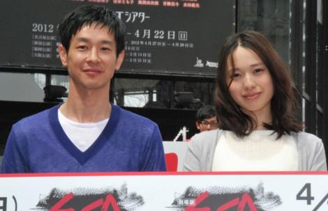 映画『劇場版SPEC〜天〜』のイベントに出席した加瀬亮と戸田恵梨香 (C)ORICON DD inc.