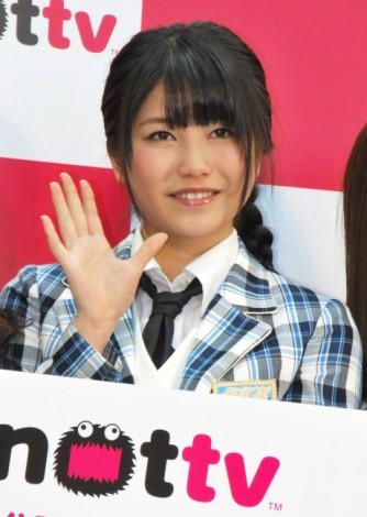 『NOTTV』開局記念セレモニーに出席したAKB48の横山由依 (C)ORICON DD inc.