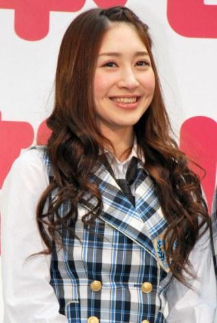 『NOTTV』開局記念セレモニーに出席したAKB48の中塚智実 (C)ORICON DD inc.