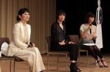 『カーネーション』最終回を観る会に出席した夏木マリ、川崎亜沙美、安田美沙子(C)NHK