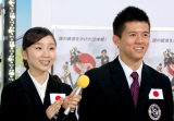 『世界フィギュアスケート国別対抗戦2012』の日本代表メンバー発表会見に出席した高橋成美選手&マービン・トラン選手 (C)ORICON DD inc.