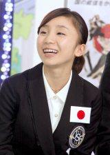 『世界フィギュアスケート国別対抗戦2012』の日本代表メンバー発表会見に出席した高橋成美選手 (C)ORICON DD inc.