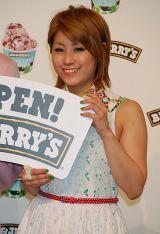 アイスクリームブランド『BEN&JERRY'S』日本1号店プレス発表会に出席したIMALU (C)ORICON DD inc.