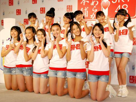 日本初CMが決定した化粧品『なめらか本舗』美白シリーズの発表会に出席したJKT48 (C)ORICON DD inc.