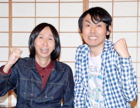 新番組『高校講座 科学と人間生活』でNHK初MCを務めるアンガールズ(左から山根良顕、田中卓志) (C)ORICON DD inc.
