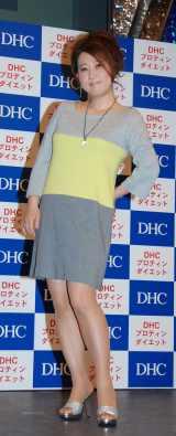 DHC『プロテインダイエット』の記者会見に出席した友近 (C)ORICON DD inc.