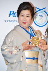 P&G『ママの公式スポンサー・ママにメダルを』キャンペーンCM発表会に出席した澤穂希選手の母・満壽子さん (C)ORICON DD inc.
