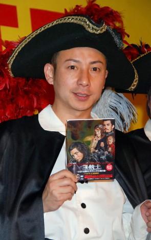 Blu-ray&DVD『三銃士/王妃の首飾りとダ・ヴィンチの飛行船』発売記念イベントに出席した我が家の坪倉由幸 (C)ORICON DD inc.