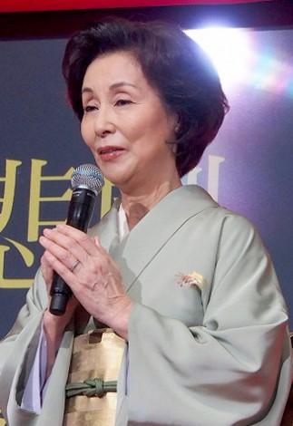 ドラマ『Wの悲劇』の制作発表会見に出席した野際陽子 (C)ORICON DD inc.