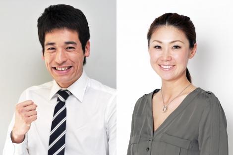 テレビ東京のオリンピック中継番組のメインキャスターを務める佐藤隆太(左)と古閑美保