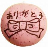 お絵かきドーナツ ストロベリーにお絵かきしたイメージ