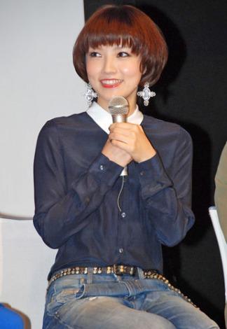 音楽劇『リンダ リンダ』の製作発表会に出席した、星野真里 (C)ORICON DD inc.